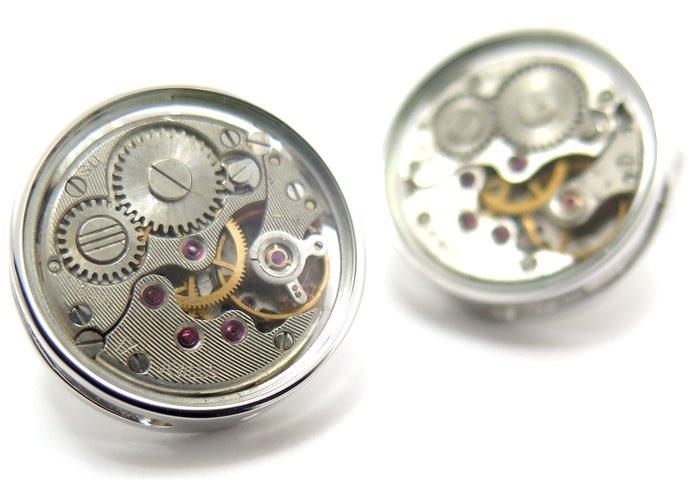 TATEOSSIAN(タテオシアン)メカニカル スケルトンスリムラウンドカフス(ロジウム)(カフスボタン/カフリンクス) - ブランドの画像
