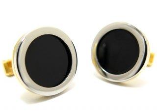 TYLER & TYLER(タイラー&タイラー) カプセルツートンボールドカフス(ブラック)(カフスボタン/カフリンクス) - ブランド
