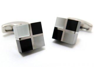 SIMON CARTER (サイモンカーター) ルービックスカフス(オニキス&ガラス)(カフスボタン/カフリンクス) - ブランド