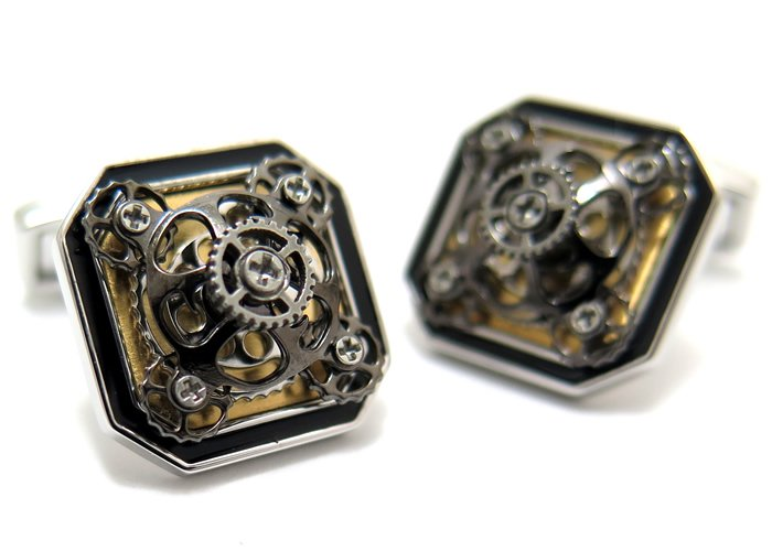 TATEOSSIAN(タテオシアン)メカニカル ディアブロオッターゴノギアカフス(ロジウム&ブラッシュゴールド)(カフスボタン/カフリンクス) - ブランドの画像