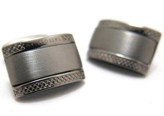 TATEOSSIAN(タテオシアン) シグニチャDシェイプシルバーカフス(ブラック)(カフスボタン/カフリンクス) - ブランド