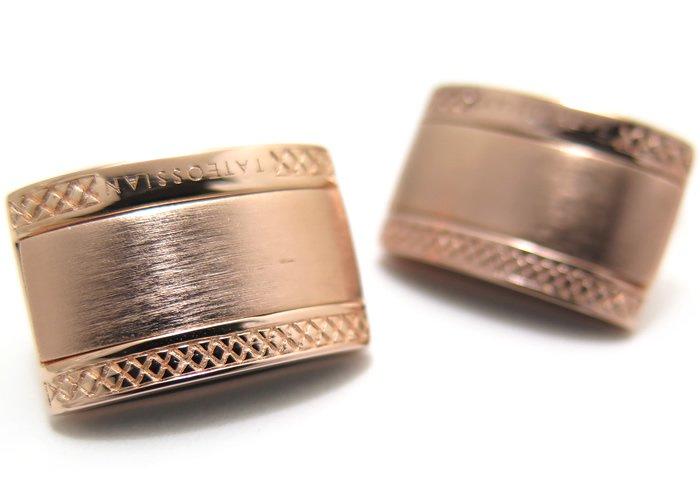 TATEOSSIAN(タテオシアン) シグニチャDシェイプシルバーカフス(ローズゴールド)(カフスボタン/カフリンクス) - ブランドの画像