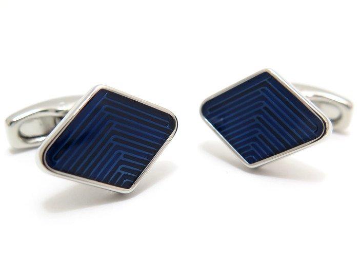 SIMON CARTER (サイモンカーター) ダイヤモンドウィーブカフス(ネイビー)(カフスボタン/カフリンクス) - ブランドの画像