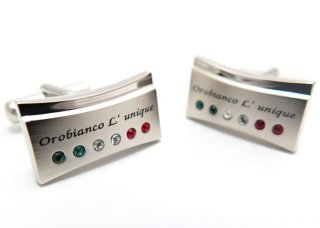 Orobianco L'unique(オロビアンコルニーク ) スワロフスキートリコロールカフス (カフスボタン/カフリンクス) - ブランド