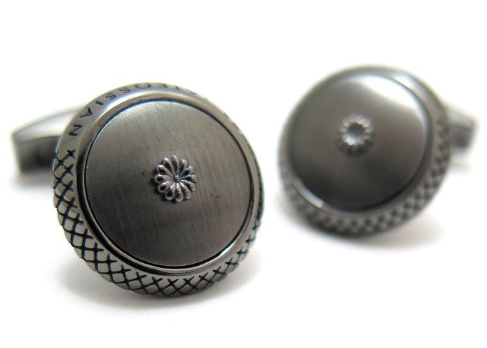 TATEOSSIAN(タテオシアン) シグニチャクリサンセマムドームシルバーカフス(ルテニウム)(カフスボタン/カフリンクス) - ブランドの画像