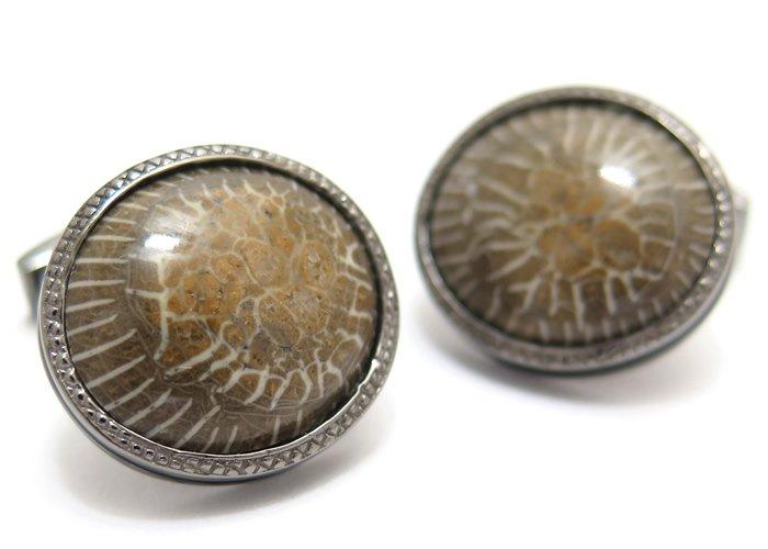 TATEOSSIAN(タテオシアン) デボニアンホーンコーラルカフス(ブラックロジウム) 世界限定30セット (カフスボタン/カフリンクス) - ブランドの画像