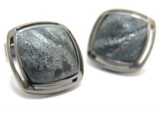 TATEOSSIAN(タテオシアン) スペキュラヘマタイトシルバーカフス(ブラックロジウム) 世界限定30セット (カフスボタン/カフリンクス) - ブランド