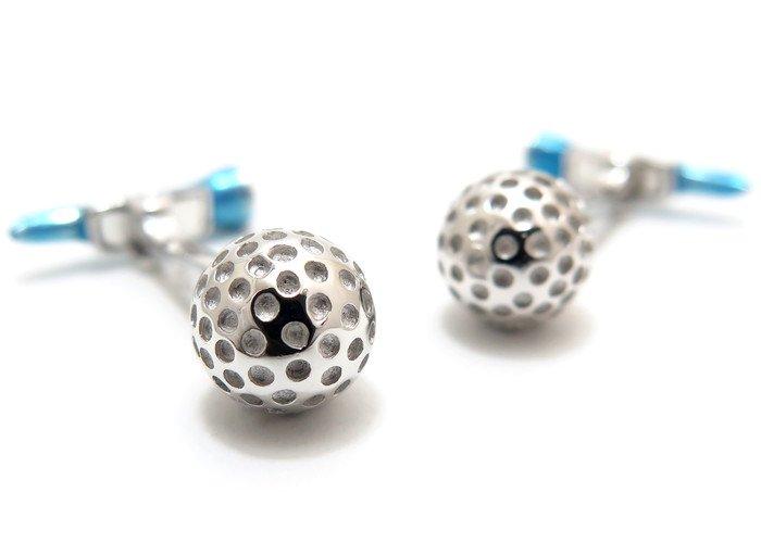 JAN LESLIE(ジャンレスリー) ゴルフボール&ムービングブルーティーシルバーカフス (カフスボタン/カフリンクス) - ブランドの画像