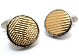 TATEOSSIAN(タテオシアン) チタニウムレザーカフス(リキッドゴールド)(カフスボタン/カフリンクス) - ブランド