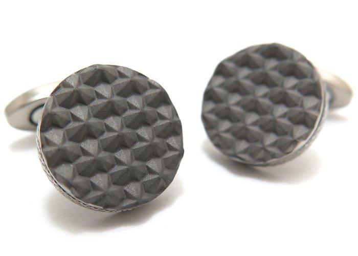 TATEOSSIAN(タテオシアン) チタニウムモノクロームカフス(トークンカレイドスコープ)(カフスボタン/カフリンクス) - ブランドの画像