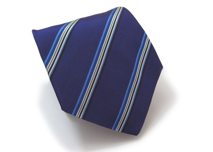 Paul Smith(ポール・スミス) シルク アクセント レジメンタルストライプ ブルー ネクタイ(ネクタイ/タイ) - ブランドの画像