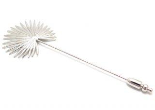 TATEOSSIAN(タテオシアン) ファンパームリーフラペルピン(ロジウム) - ブランド