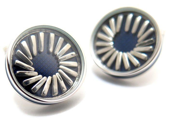 TATEOSSIAN(タテオシアン) プレイタイム スイングピンカフス(ロジウム&ブルー)(カフスボタン/カフリンクス) - ブランドの画像