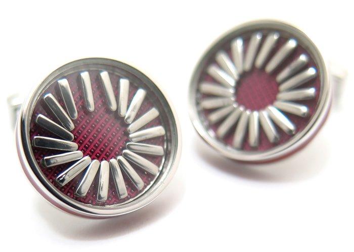 TATEOSSIAN(タテオシアン) プレイタイム スイングピンカフス(ロジウム&レッド)(カフスボタン/カフリンクス) - ブランドの画像