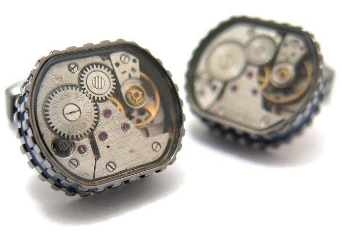 TATEOSSIAN(タテオシアン) メカニカル トノースケルトンギアカフス(ロジウム&ブラック)(カフスボタン/カフリンクス) - ブランドの画像