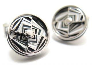TATEOSSIAN(タテオシアン) ノベルティ ミラージュエナメルカフス(ロジウム&グレイ)(カフスボタン/カフリンクス) - ブランド