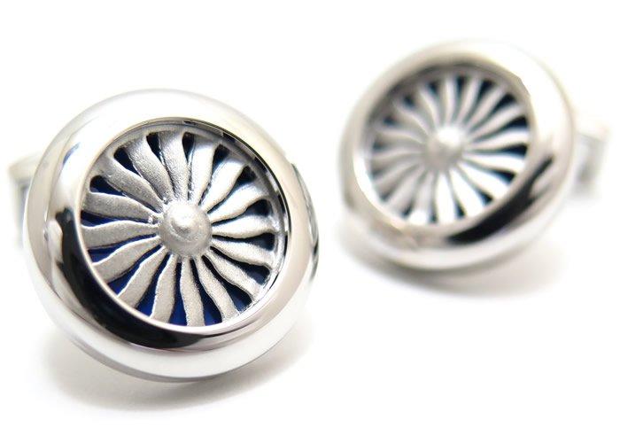 TATEOSSIAN(タテオシアン) ノベルティ エンジンカフス(ロジウム&ブルーエナメル)(カフスボタン/カフリンクス) - ブランドの画像