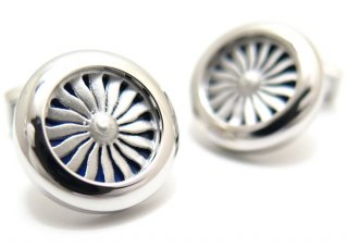 TATEOSSIAN(タテオシアン) ノベルティ エンジンカフス(ロジウム&ブルーエナメル)(カフスボタン/カフリンクス) - ブランド