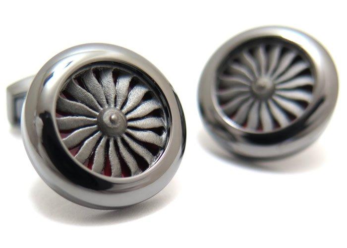TATEOSSIAN(タテオシアン) ノベルティ エンジンカフス(ガンメタル&レッドエナメル)(カフスボタン/カフリンクス) - ブランドの画像