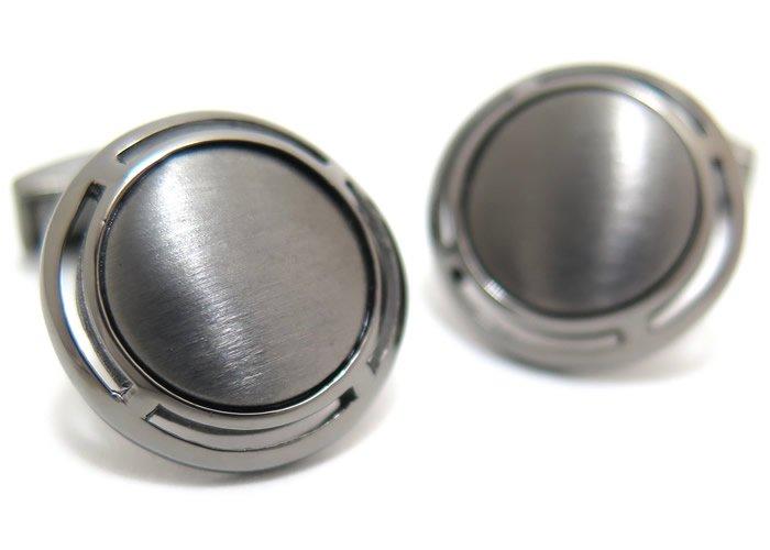 TATEOSSIAN(タテオシアン) ピュア アールデコシルバーカフス(ブラッシュブラックロジウム)(カフスボタン/カフリンクス) - ブランドの画像