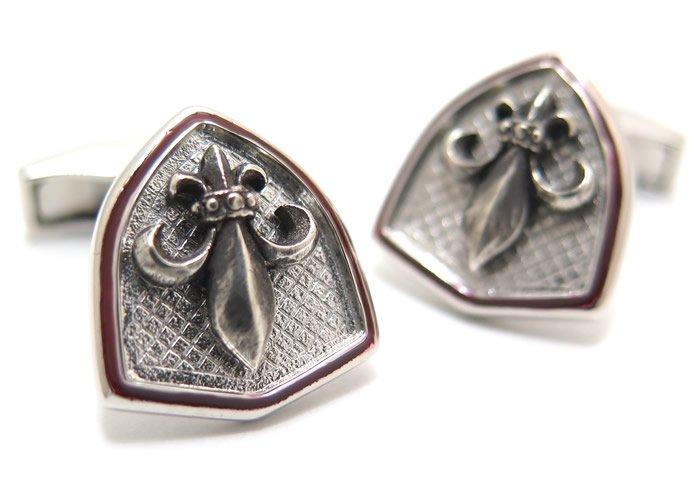 TATEOSSIAN(タテオシアン) ノベルティ ゆりの紋章の盾シルバーカフス(ロジウム&レッドエナメル)(カフスボタン/カフリンクス) - ブランドの画像
