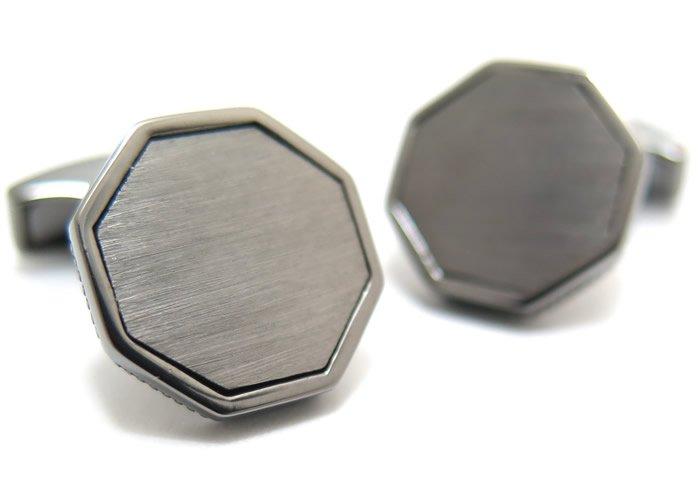 TATEOSSIAN(タテオシアン) クラシックロンドンアイシルバーカフス(ブラッシュブラックロジウム)(カフスボタン/カフリンクス) - ブランドの画像