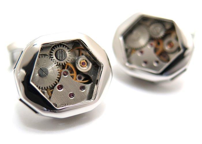 TATEOSSIAN(タテオシアン) メカニカル スケルトンギアファセティッドカフス(ロジウム) 世界限定350セット(カフスボタン/カフリンクス) - ブランドの画像