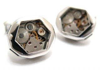 TATEOSSIAN(タテオシアン) メカニカル スケルトンギアファセティッドカフス(ロジウム) 世界限定350セット(カフスボタン/カフリンクス) - ブランド