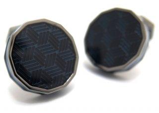 TATEOSSIAN(タテオシアン) エナメル ドデカゴンガンメタルカフス(ブルー)(カフスボタン/カフリンクス) - ブランド