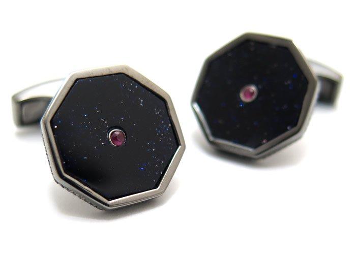TATEOSSIAN(タテオシアン) プレシャスロンドンアイカフス(紫金石&ルビー)(カフスボタン/カフリンクス) - ブランドの画像