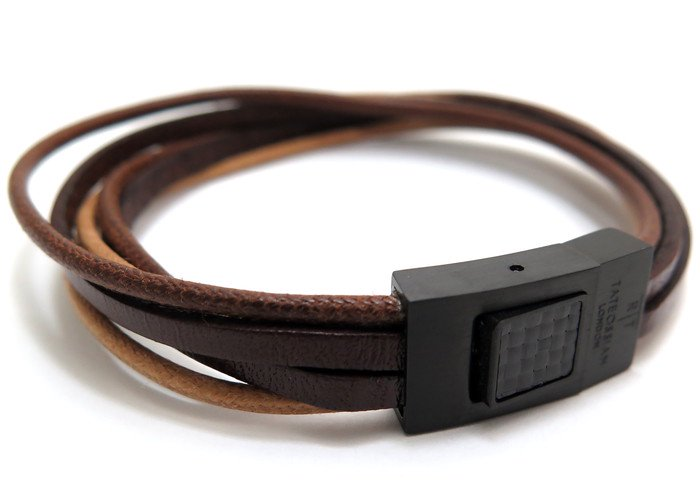 TATEOSSIAN(タテオシアン)タラセアブレスレット(ブラックIP&ブラウン) - ブランドの画像