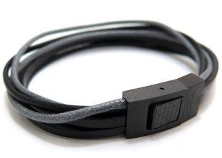 TATEOSSIAN(タテオシアン)タラセアブレスレット(ブラックIP&ブラック) - ブランド