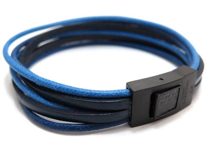 TATEOSSIAN(タテオシアン)タラセアブレスレット(ブラックIP&ブルー) - ブランドの画像
