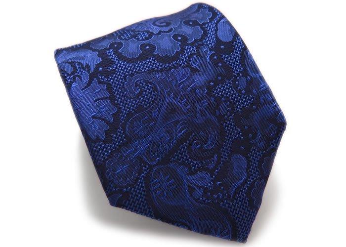 SIMON CARTER(サイモンカーター) バロック フローラル シルク ネクタイ(ブルー)(ネクタイ/タイ) - ブランドの画像