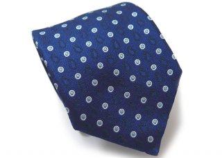 TINO COSMA (ティノコズマ)ペイズリー ドット シルク ネクタイ(ブルー)(ネクタイ/タイ) - ブランド