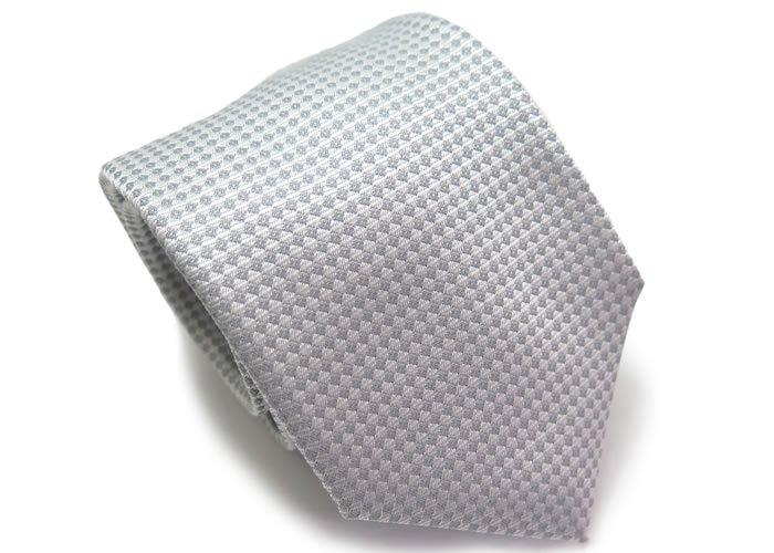 TINO COSMA (ティノコズマ)ダイアモンド ジオメトリック シルク ネクタイ(シルバー)(ネクタイ/タイ) - ブランドの画像