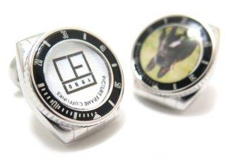 TATEOSSIAN(タテオシアン) メカニカル ロロピクチャーフレームカフス(IPスティール&ブラックエナメル)(カフスボタン/カフリンクス) - ブランド