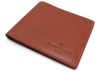 SIMON CARTER(サイモンカーター) スリムウォレット(タン) (折り畳み財布) - ブランド