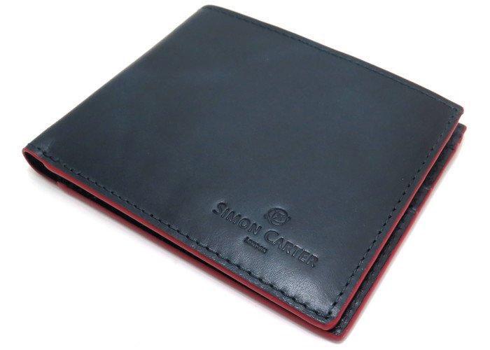 SIMON CARTER(サイモンカーター) レッドエッジレザーウォレット (折り畳み財布) - ブランドの画像