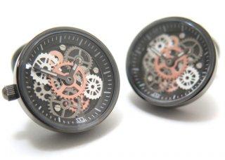 TATEOSSIAN(タテオシアン) メカニカル ビンテージギア時計カフス(ガンメタルIPスティール) 世界限定100セット(カフスボタン/カフリンクス) - ブランド
