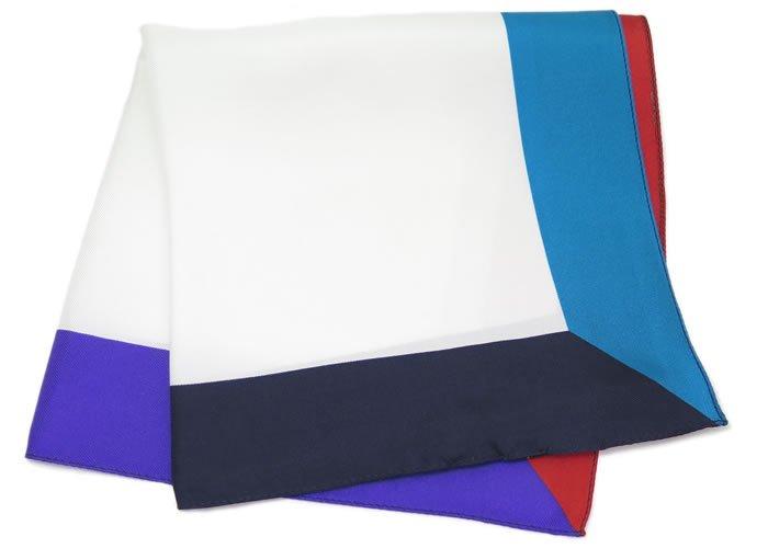TINO COSMA(ティノコズマ) 4カラー パネル シルク ポケットスクエア(ハンカチ/チーフ) - ブランドの画像