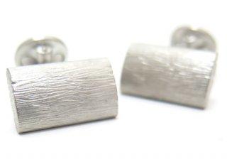 TATEOSSIAN(タテオシアン) ピュア グラッフィエイトシルバーカフス(ブラッシュロジウム)(カフスボタン/カフリンクス) - ブランド