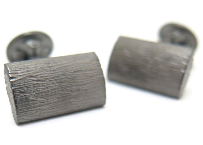 TATEOSSIAN(タテオシアン) ピュア グラッフィエイトシルバーカフス(ブラッシュブラックロジウム)(カフスボタン/カフリンクス) - ブランドの画像