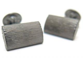 TATEOSSIAN(タテオシアン) ピュア グラッフィエイトシルバーカフス(ブラッシュブラックロジウム)(カフスボタン/カフリンクス) - ブランド