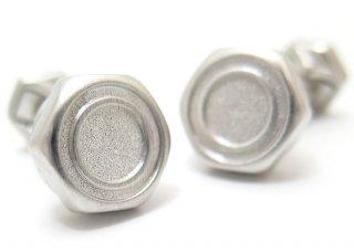 TATEOSSIAN(タテオシアン) メカニカル 六角ナット&ボルトシルバーカフス(ブラッシュロジウム)(カフスボタン/カフリンクス) - ブランド