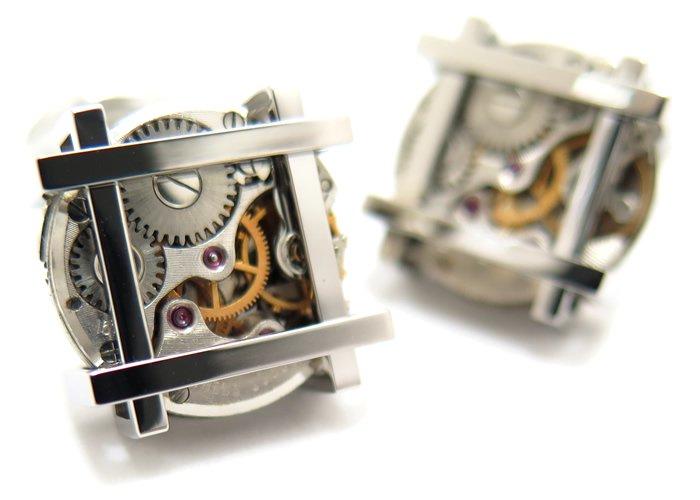 TATEOSSIAN(タテオシアン) メカニカル フレームビンテージスケルトンカフス(ロジウム) 世界限定300セット(カフスボタン/カフリンクス) - ブランドの画像