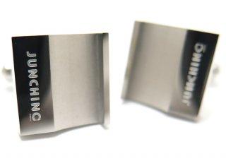 Junchino(ジュンキーノ) スクウェアフックカフス (カフスボタン/カフリンクス) - ブランド