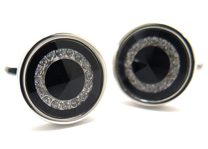 NO BRAND(ノーブランド) BLACK CIRCLE LIGHT CUFFLINKS ブラックサークルライトカフス(カフスボタン/カフリンクス)の画像