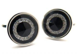 NO BRAND(ノーブランド) BLACK CIRCLE LIGHT CUFFLINKS ブラックサークルライトカフス(カフスボタン/カフリンクス)