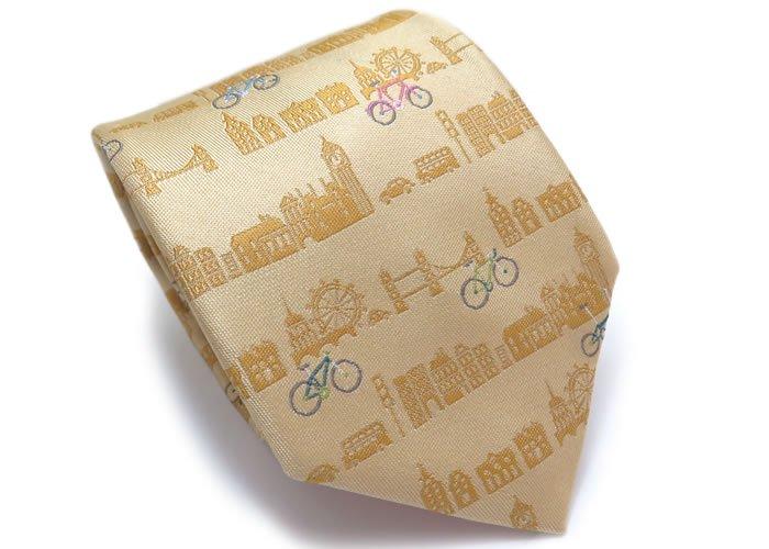 SIMON CARTER(サイモンカーター) 自転車 シルクネクタイ(ゴールド) (ネクタイ/タイ) - ブランドの画像